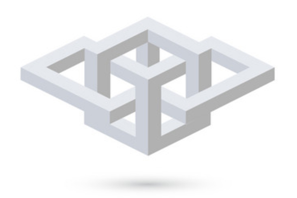 Geometric illusion for custom book cover.