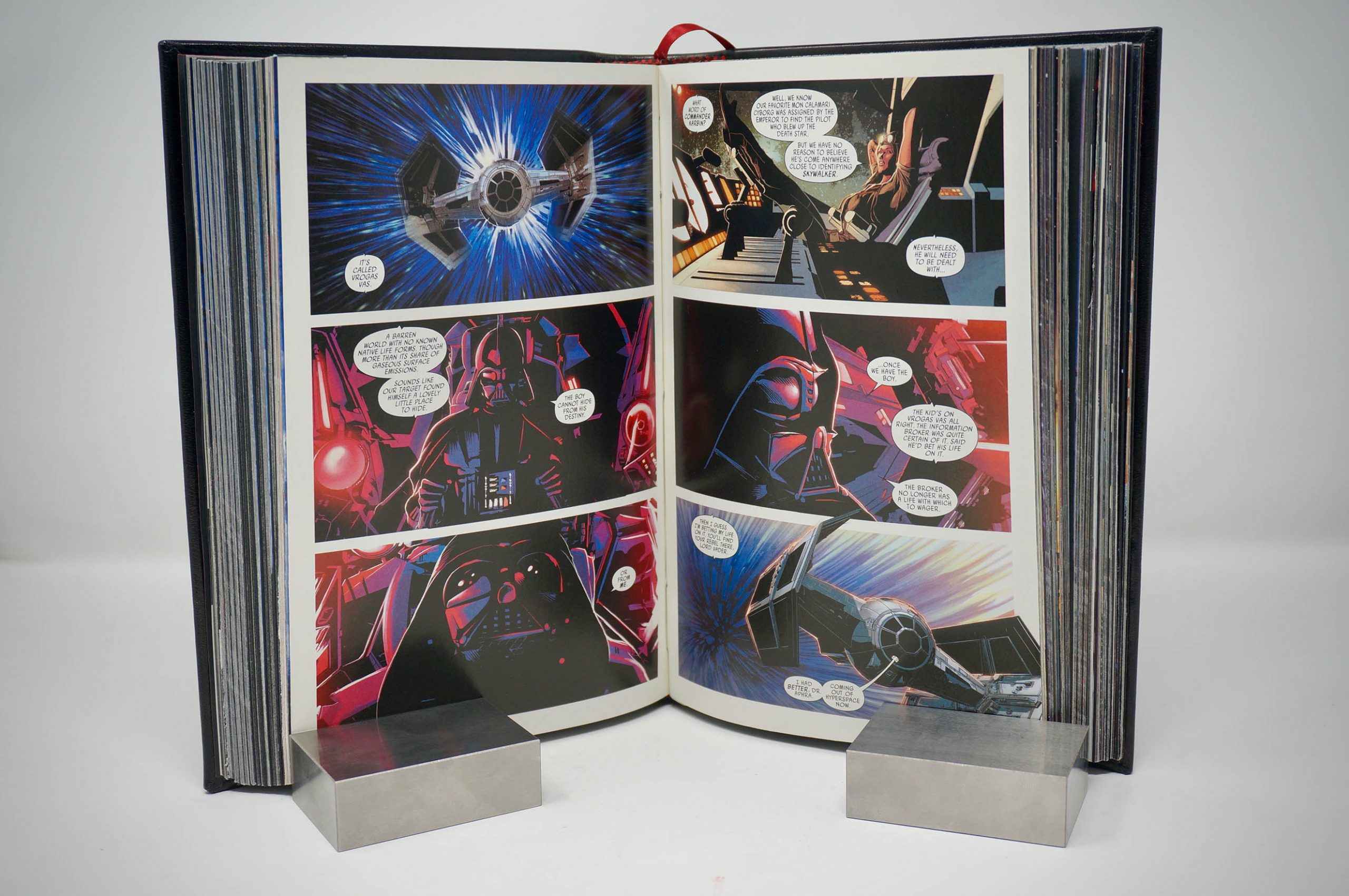 Dather Vader Comic Book (2015) Custom Leather Book Boston Harbor Bookbindery