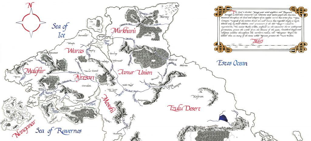 Fantasy map of the Northern Realms